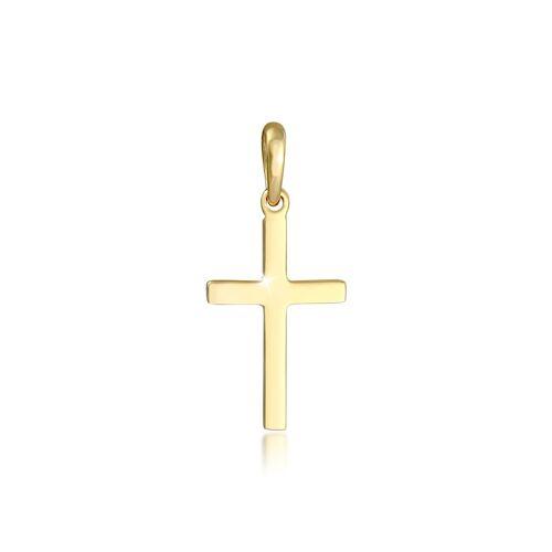 Elli Anhänger Kreuz Schlicht Glaube Religion 925 Silber Elli Gold  001