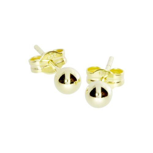 OSTSEE-SCHMUCK Ohrstecker - Kugel 4 mm Gold 333/000 , OSTSEE-SCHMUCK gold  001