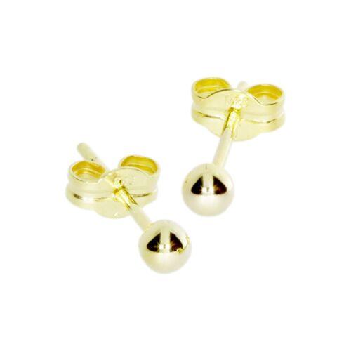 OSTSEE-SCHMUCK Ohrstecker - Kugel 3 mm Gold 333/000 , OSTSEE-SCHMUCK gold  001