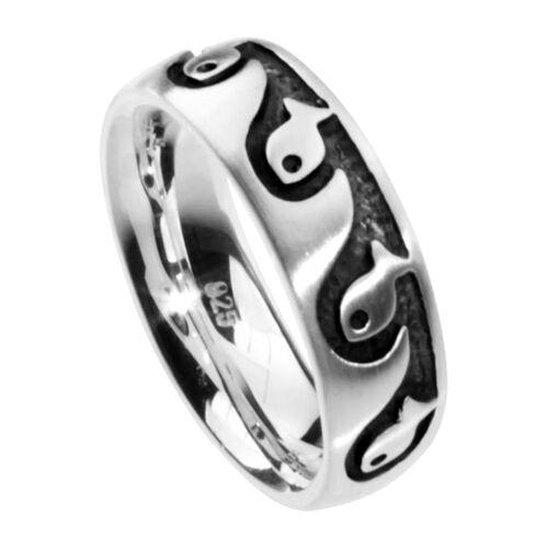 OSTSEE-SCHMUCK Ring - Fisch Silber 925/000 , OSTSEE-SCHMUCK silber  54,56,58,60,64,66,68