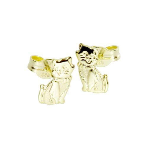 OSTSEE-SCHMUCK Ohrstecker - Katze Gold 333/000 , OSTSEE-SCHMUCK gold  001