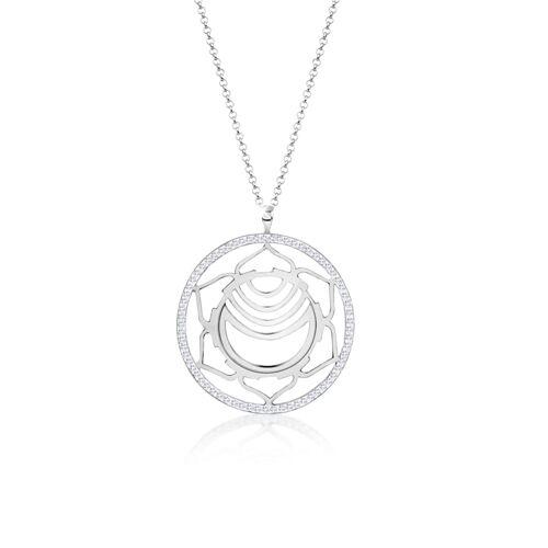Nenalina Halskette Sakralchakra Chakra Kristalle Silber Nenalina Silber  001