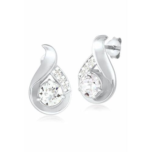 Elli Ohrringe Tropfen Kristalle Glamour 925 Silber Elli Weiß  001