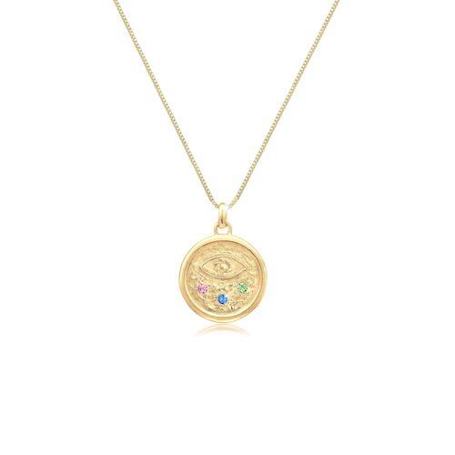 Elli Halskette Evil Eye Kristalle Bunt 925 Silber Elli Gold  001
