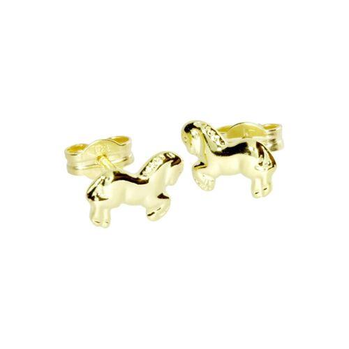 OSTSEE-SCHMUCK Ohrstecker - Pferd Gold 333/000 , OSTSEE-SCHMUCK gold  001