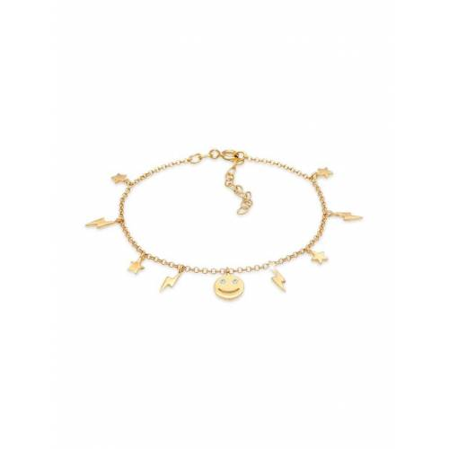 Elli Armband Stern Blitz Smiley Kristalle Boho 925 Silber Elli Gold  001