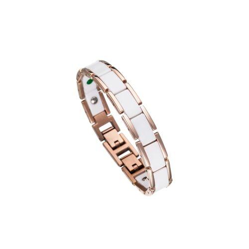 Lunavit Armband Magnet Keramikarmband Olymp Lunavit weiß/rosé  S S
