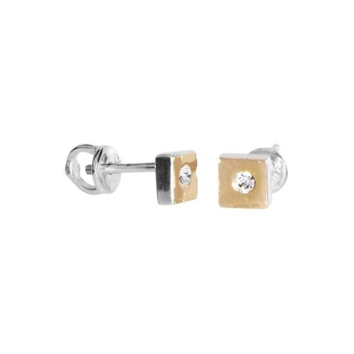OSTSEE-SCHMUCK Ohrstecker - Sunny Exklusiv - Silber 925/000 & Gold 585/000 - Swarowski-Kristall OSTSEE-SCHMUCK gelb  001