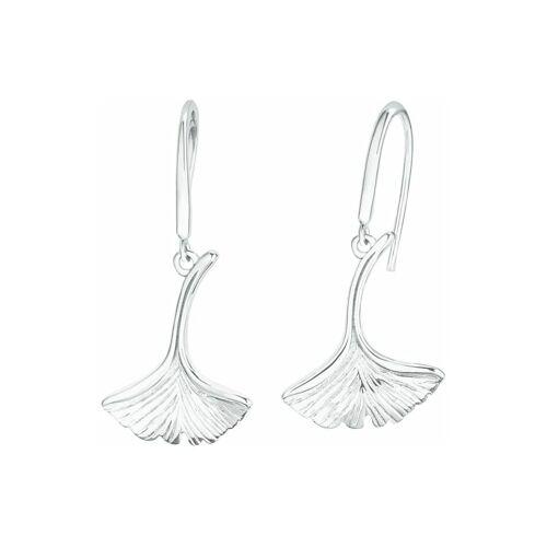 amor Ohrhänger für Damen, Silber 925, Ginkgoblatt amor Silber  001 001