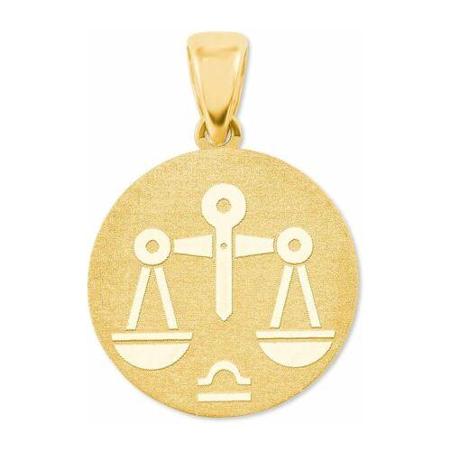 amor Anhänger Unisex, Gold 375, Waage amor Gold  001
