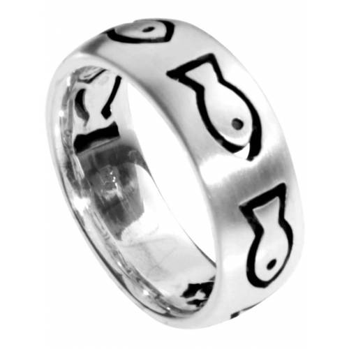 OSTSEE-SCHMUCK Ring Fisch Silber 925/000 , OSTSEE-SCHMUCK silber  52,54,56,60,62,64,66,68