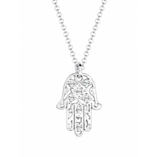 Elli Halskette Hamsa Hand Fatima Kristalle 925 Silber Elli Silber  001