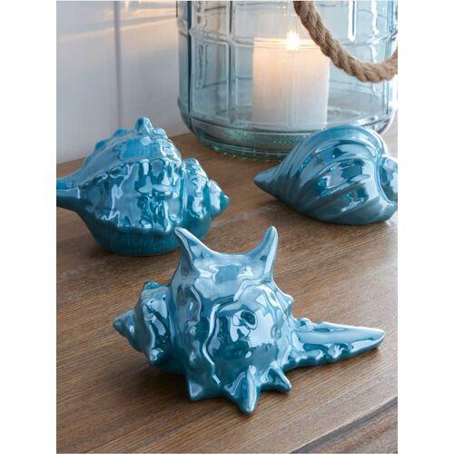 Boltze 3er Set Dekoration Muscheln Boltze Blau