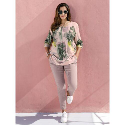 MIAMODA Pullover MIAMODA Rosé/Grün