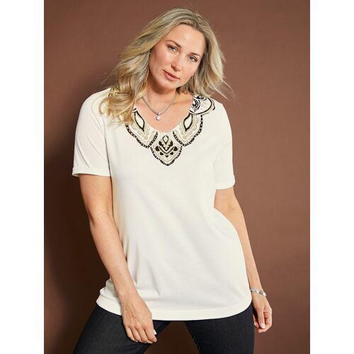 MIAMODA Shirt MIAMODA Creme-Weiß