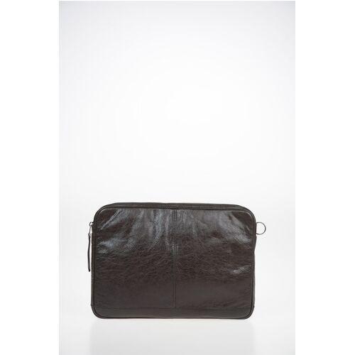 Balenciaga tumbled leather Laptop Bag Größe Unica