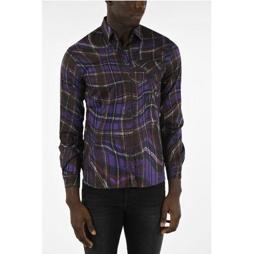 Just Cavalli Snap Button Plaid Check Shirt Größe 44