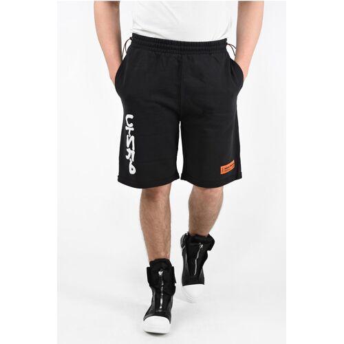 Heron Preston Sweat Shorts with Spray Pack Details Größe S