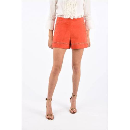 DROMe Suede Shorts with Studded Trimmings Größe Xs