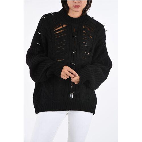 Diesel BLACK GOLD U-Shape Backline Aran MEBLY Sweater Größe S