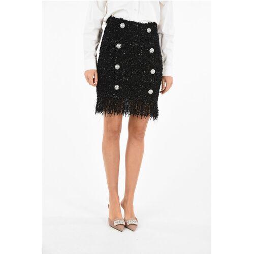 Balmain Fringed Miniskirt With Lurex Details Größe 42