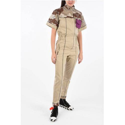 Palm Utility-Style Jumpsuit with Camouflage Details Größe 38