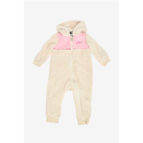 Nike KIDS Faux Fur Hooded Teddy Romper Suit Größe 24 M