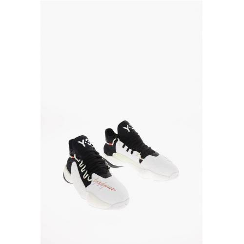 Y-3 by Yohji Yamamoto ADIDAS Leather and Fabric Y-3 BYW BALL High-top Sneakers Größe 10