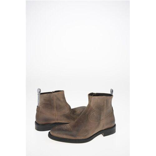 Golden Goose Suede Texan Boots with Inner Zip Closure Größe 43