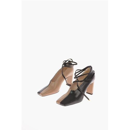 Wandler 9cm leather ISA Square Toe Ankle-strap pumps Größe 38,5