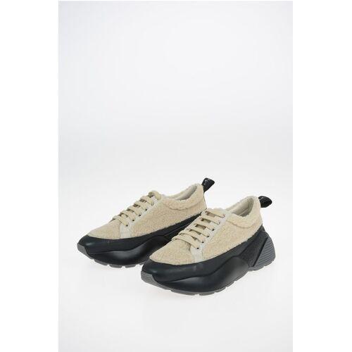 Stella McCartney Boucle Fabric Teddy Sneakers Größe 40