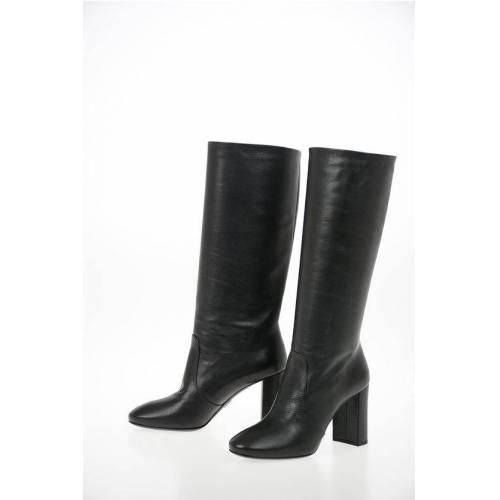 Prada Leather Pull On Boots with Squared Heel 8 cm Größe 37,5