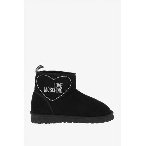 Moschino LOVE Ankle Boots with Strass Größe 40