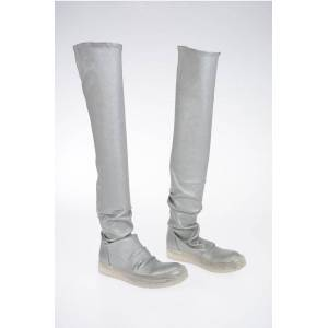 Rick Owens Leather NO CAP STOCKING Boot CLEAR SOLE Größe 36