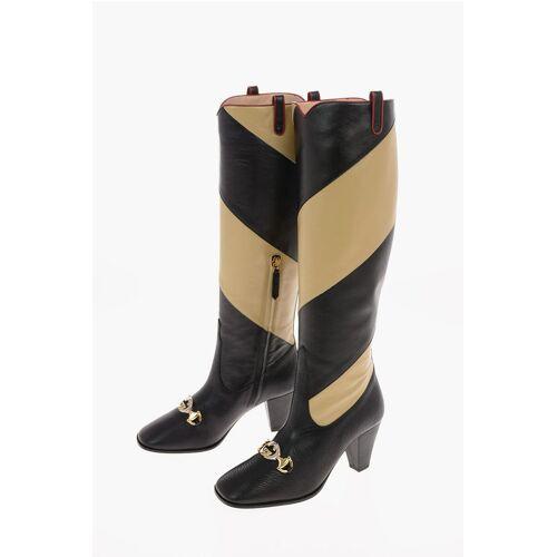Gucci 7.5 cm leather two tones Boots Größe 36