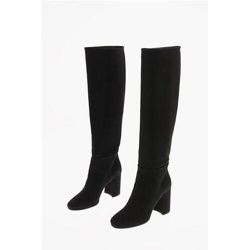 Miu Miu Denim Pull On Knee Length Boots 9 cm Größe 36