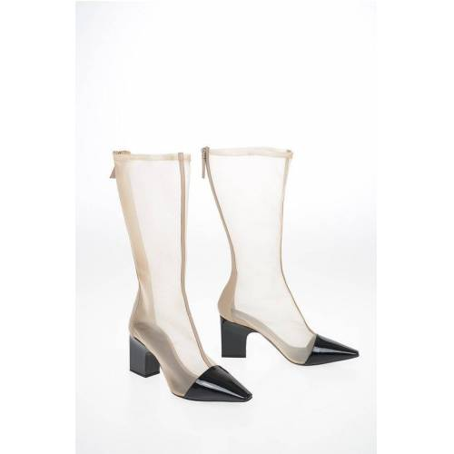 Giorgio Armani 8cm Mesh Chunky Heel Boots Größe 39,5