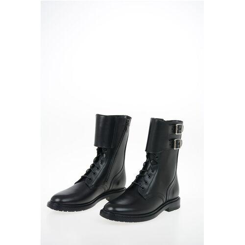 Celine Leather Combat Boots Größe 40,5