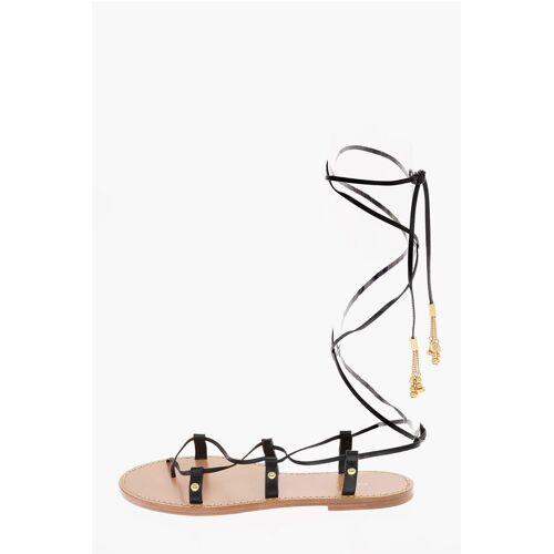 Celine Leather Gladiator Sandals Größe 37