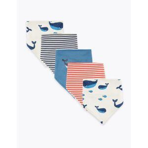 Marks & Spencer 5er-Pack Lätzchen aus Bio-Baumwolle - Blau