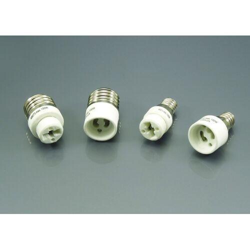 Heitronic Hochvolt Leuchtmitteladapter G9 und GU10 auf E14 und E27