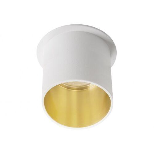Kanlux Einbaustrahler SPAG L weiss rund lang innen gold