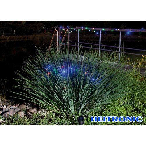 Heitronic Solar LED Lichterkette farbig 50 LED