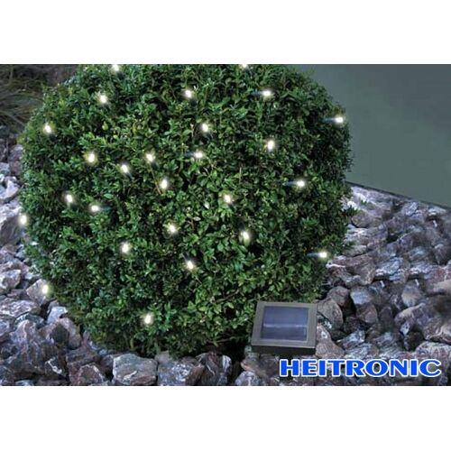 Heitronic Solar LED Lichterkette weiß 50 LED