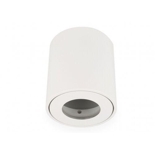 LED Line Feuchtraum Aluminium Aufbaustrahler weiß matt rund GU10 IP44