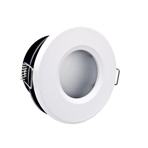 LED line Einbaustrahler weiß rund für Feuchträume IP44, Milchglas