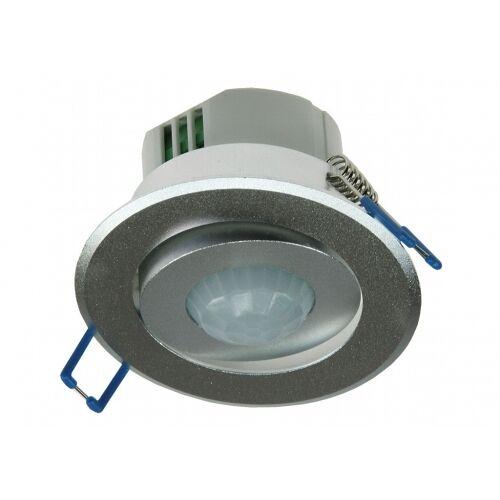 ChiliTec Decken-Einbau Bewegungsmelder Aluminium 360 Grad auch für LED