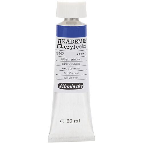 Packlinq Schmincke AKADEMIE® Acrylfarbe, Ultramarinblau (442), Halb-transparent, Gut lichtech, 60ml