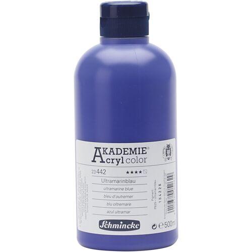 Packlinq Schmincke AKADEMIE® Acrylfarbe, Ultramarinblau (442), Halb-transparent, Gut lichtech, 500ml