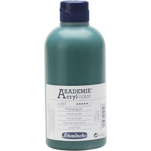 Packlinq Schmincke AKADEMIE® Acrylfarbe, Phthalogrün (551), Transparent, , 500ml